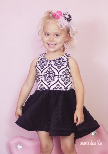 Be Amazing Girls Party Dress Sewing Pattern by Ellie and Mac