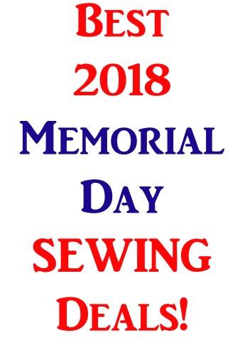 Best Memorial Day Sewing Deals