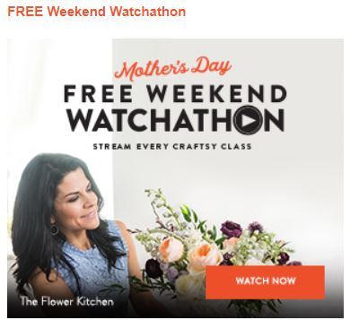Craftsy Mother's Day Free Watchathon