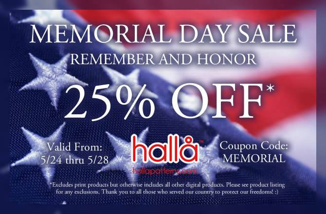 Halla Sewing Patterns Memorial Day Sale