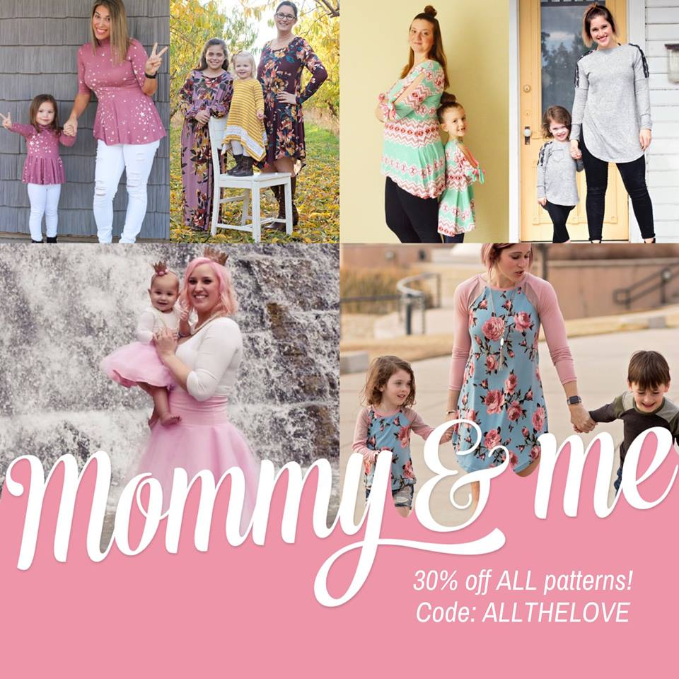 Petite Stitchery Sewing Patterns Mommy and Me Mother's Day Sale