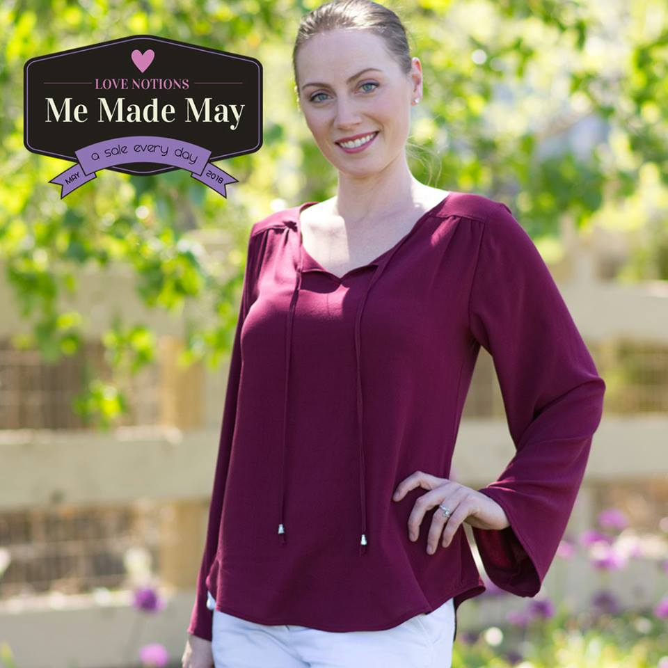 Rhapsody Blouse Sewing Pattern for Women Me Made May Sale by Love Notions
