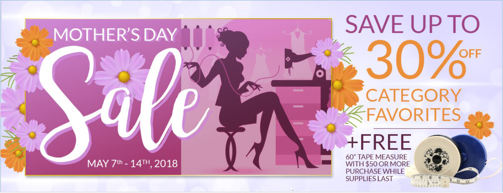 Sewing Machines Plus Mother's Day Sale