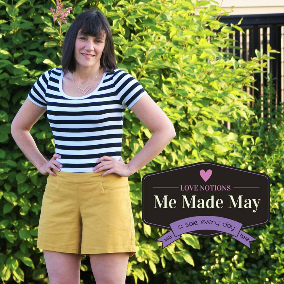 Summer Caye Short, Capris, Pants Sewing Pattern Me Made May Sale at Love Notions