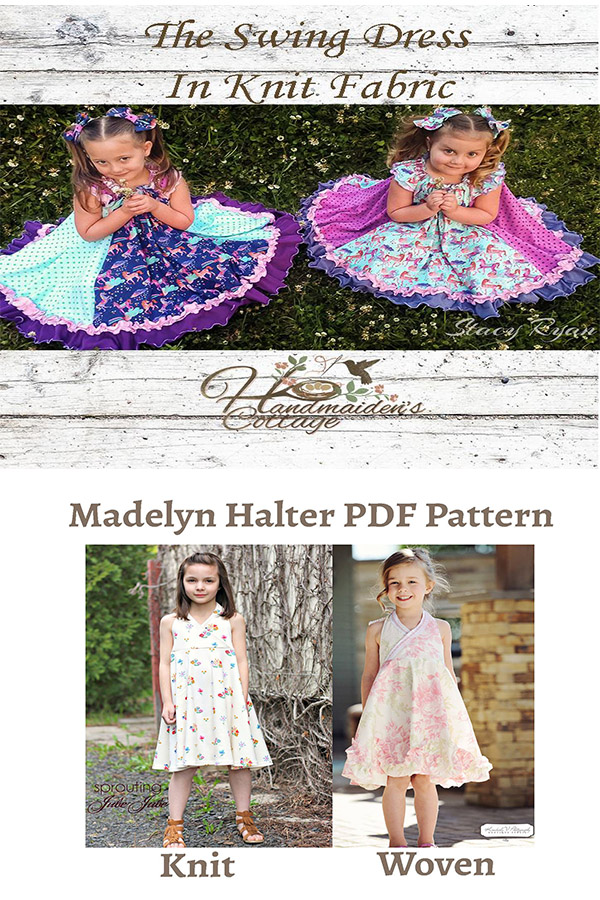The Girls Swing Dress Sewing Pattern the Girls Madelyn Dress Sewing Pattern on Sale at Handmaiden's Cottage