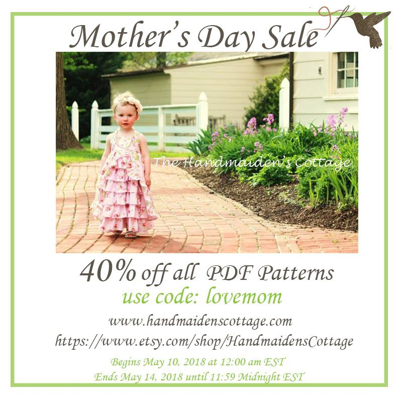 The Handmaiden's Cottage Mother's Day Sale