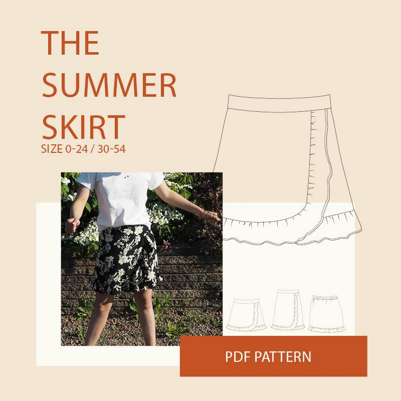 The Summer Skirt Sewing Pattern Sale by Wardrobe by Me