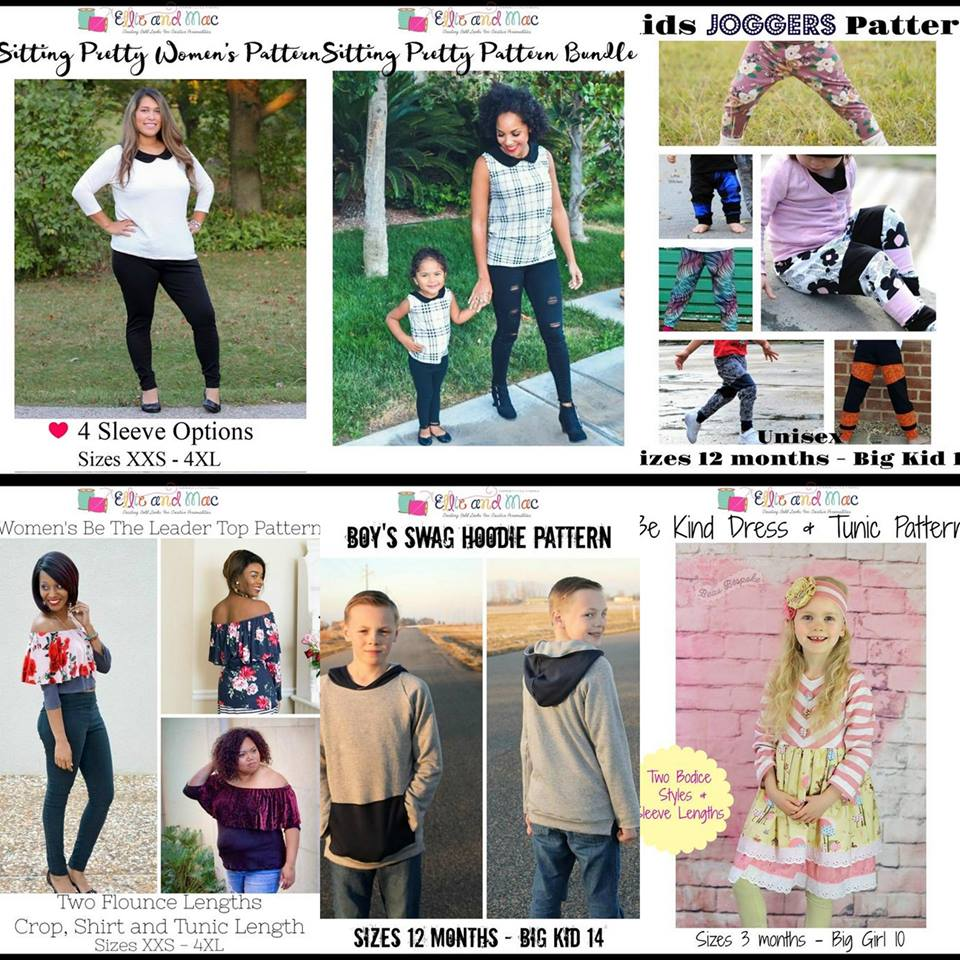 Wacky Wednesday $1 Sewing Pattern Sale by Ellie and Mac May 23