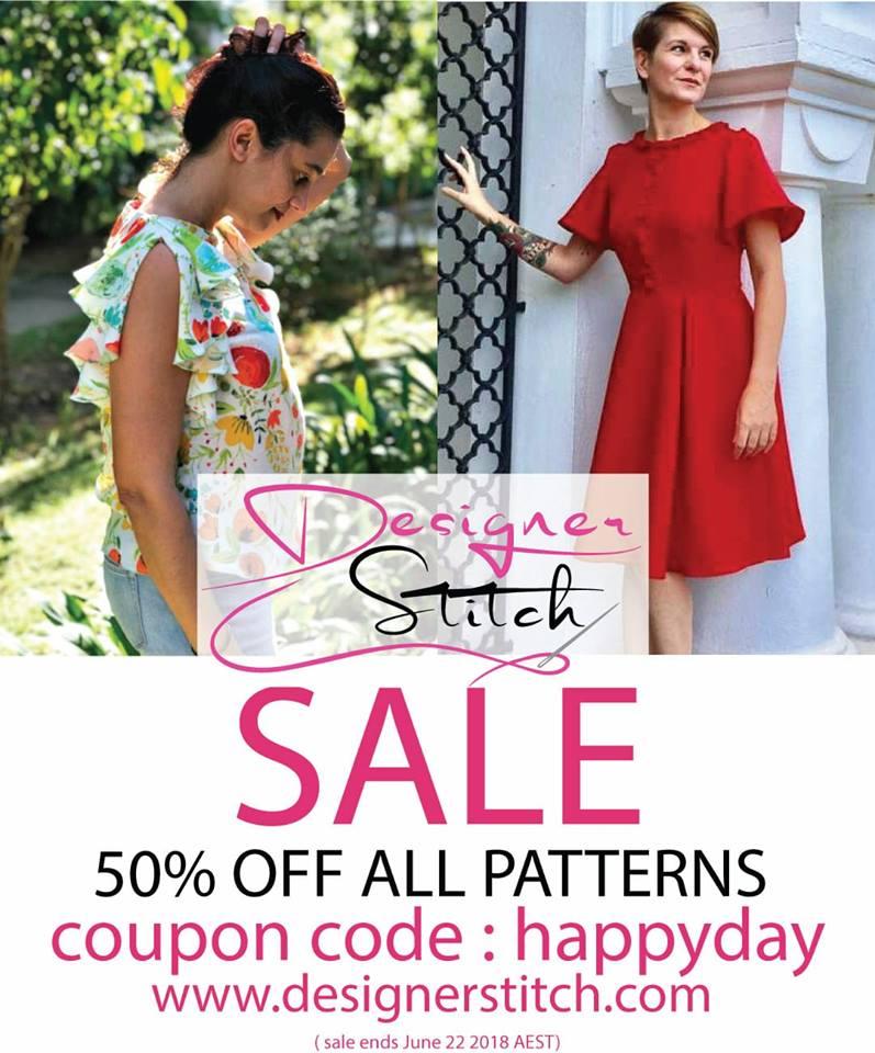 Designer Stitch Sewing Patterns Birthday Sale