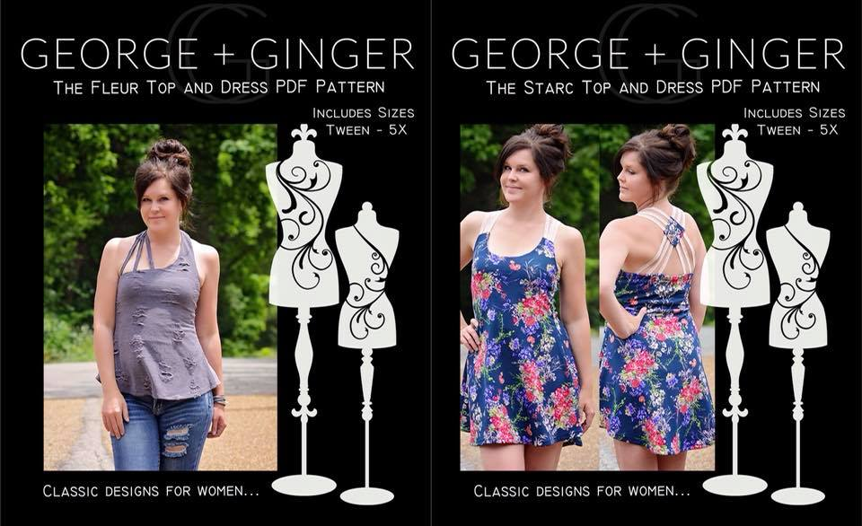 Fleur and Starc Tops and Dresses Sewing Pattern Release by George + Ginger