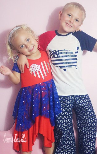 Brother and Sister 4th of July Outfits sewing patterns