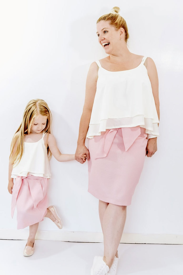 Mommy and Me Chloe Cami Sewing Patterns Release and Sale by Rebecca Page