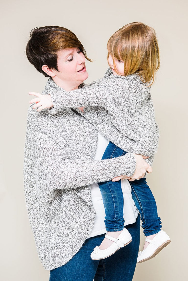 Rebecca Page Cocoon Cardigan Sewing Pattern Release and Sale Mommy and Me