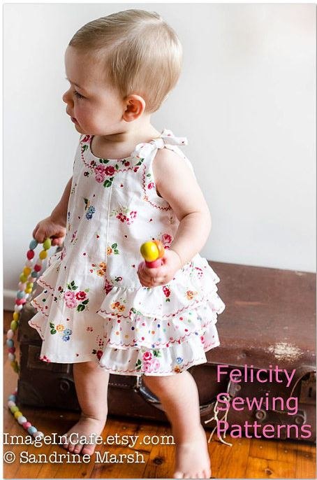 Sunny Dress and Bloomers Release and Sale by Felicity Sewing Patterns