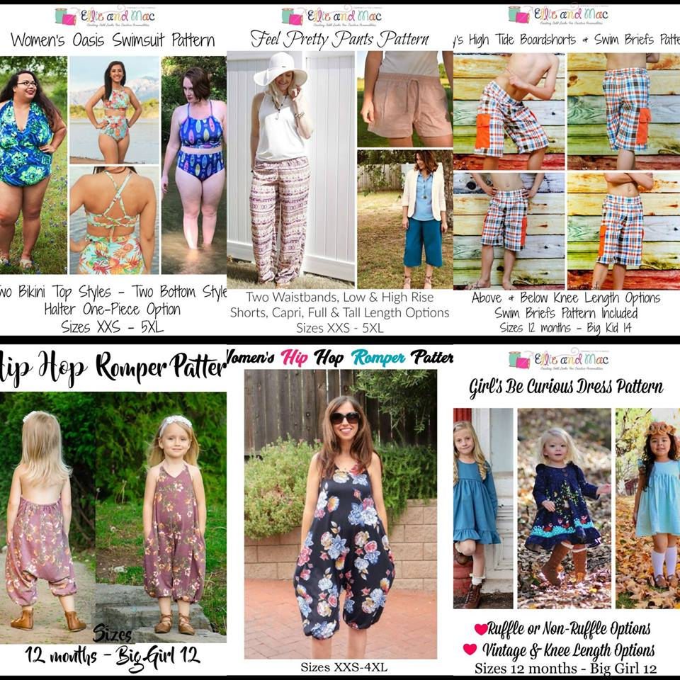 Wacky Wednesday $1 Sewing Patterns by Ellie and Mac June 13