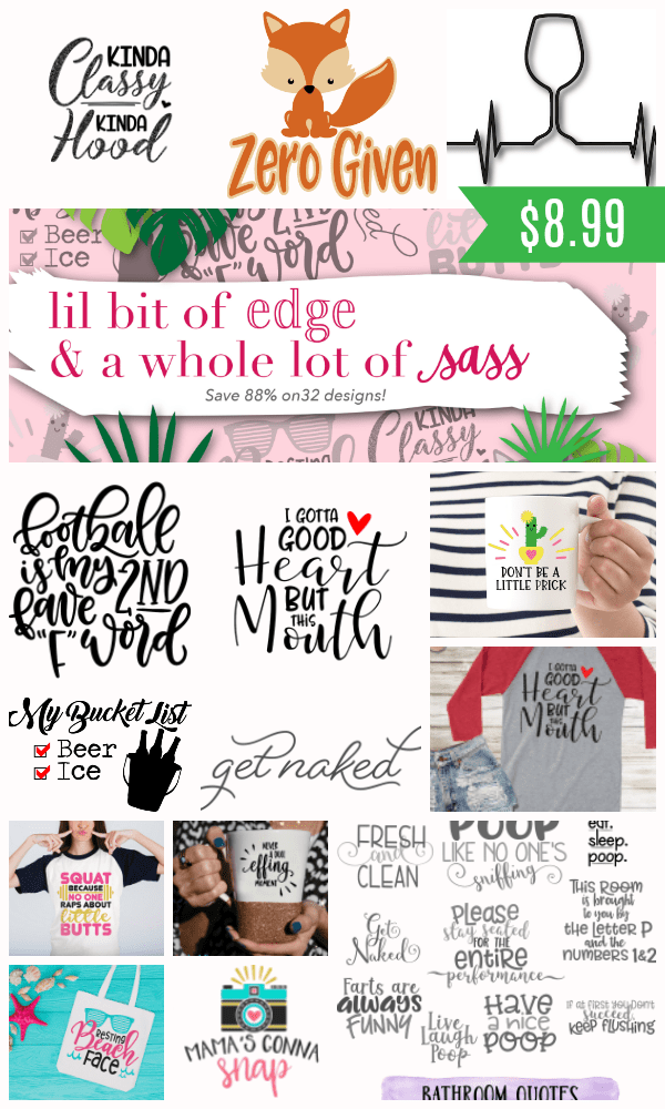 A Little Bit of Edge and a Whole Lot of Sass 32 Cut File Bundle