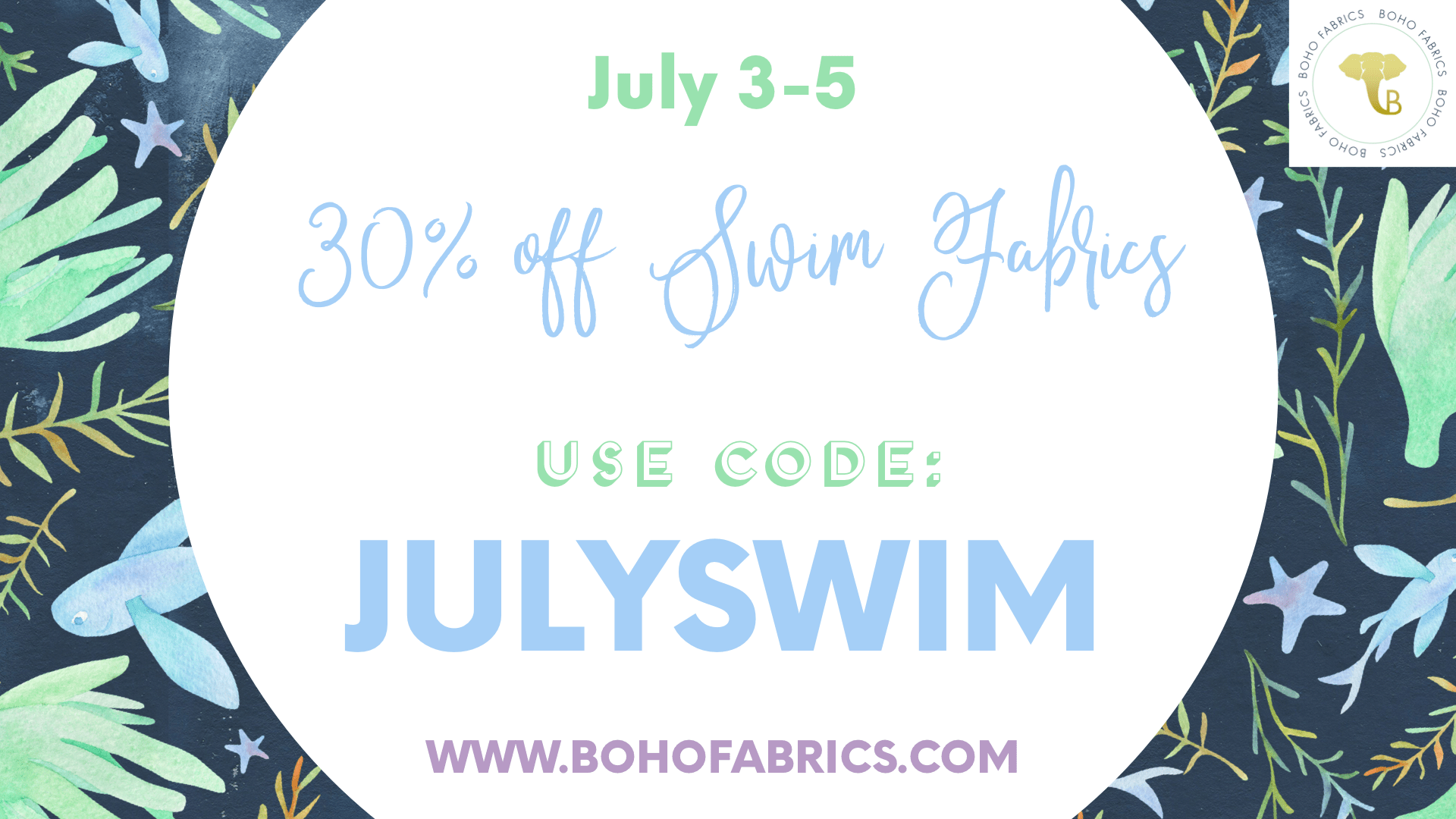 Boho Fabrics 4th of July Sale