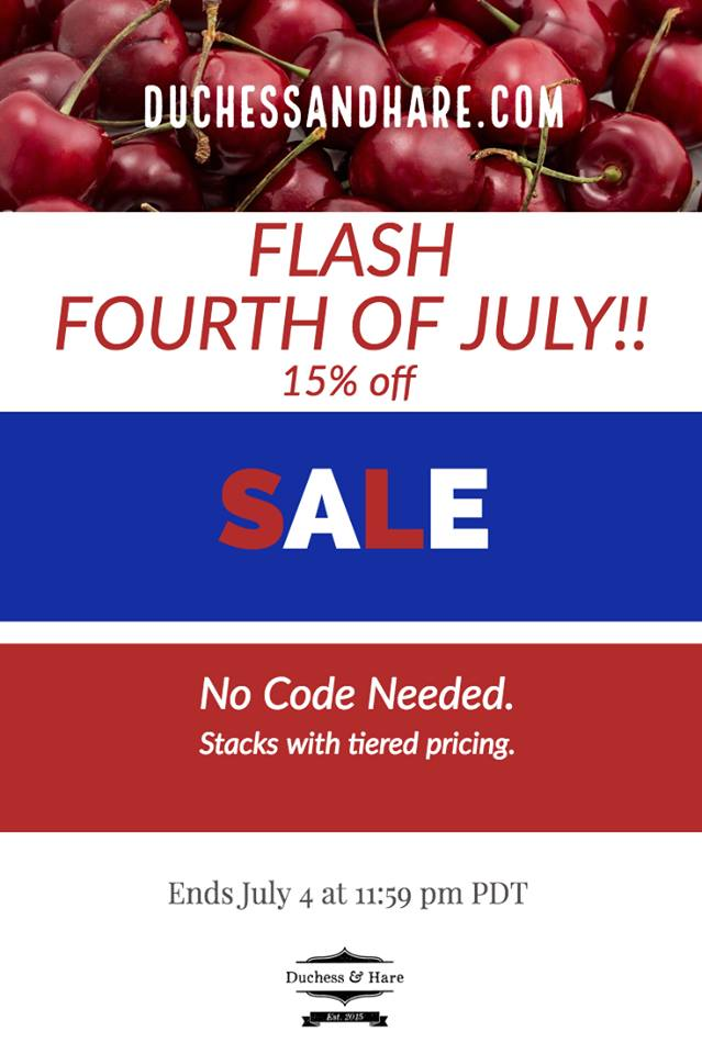 Duchess and Hare 4th of July Sewing Pattern Sale