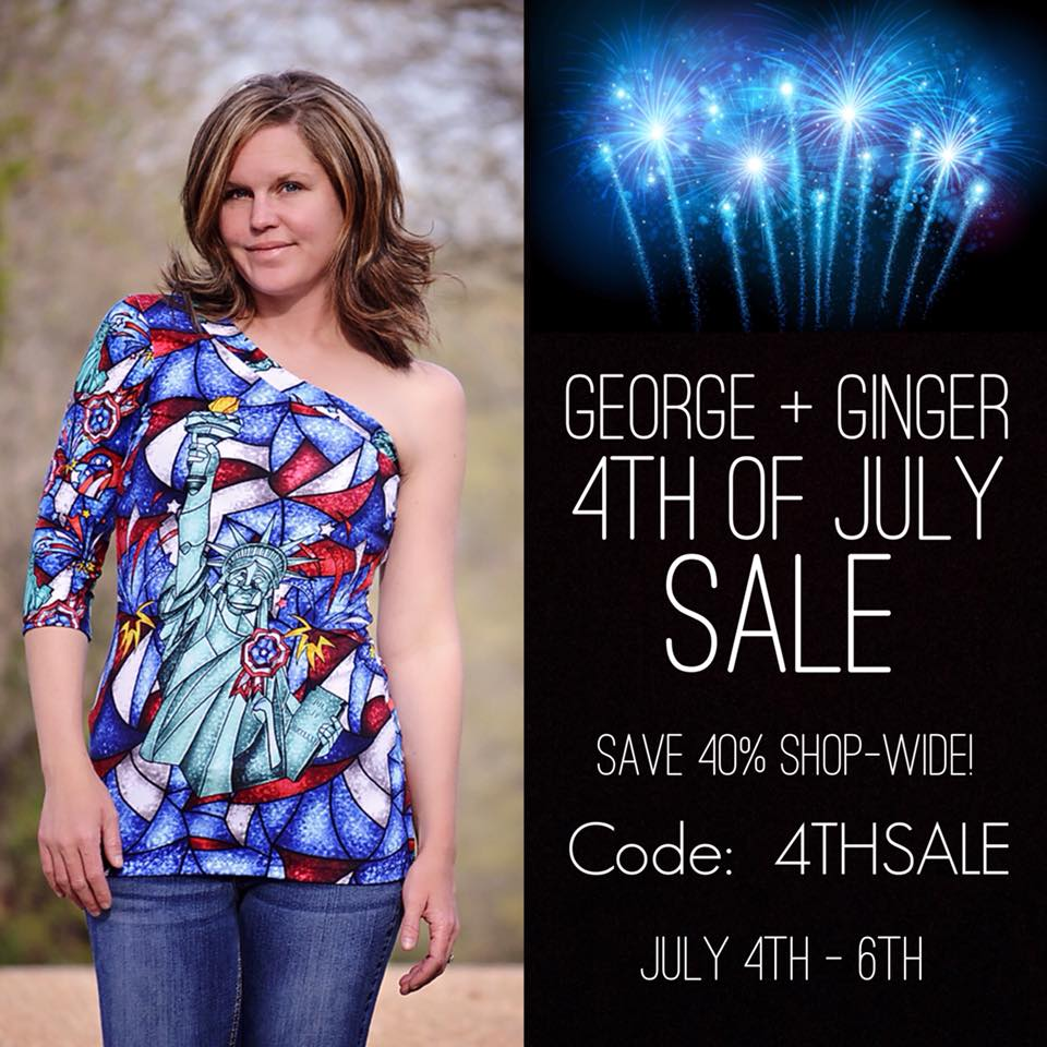 George + Ginger 4th of July Sewing Pattern Sale