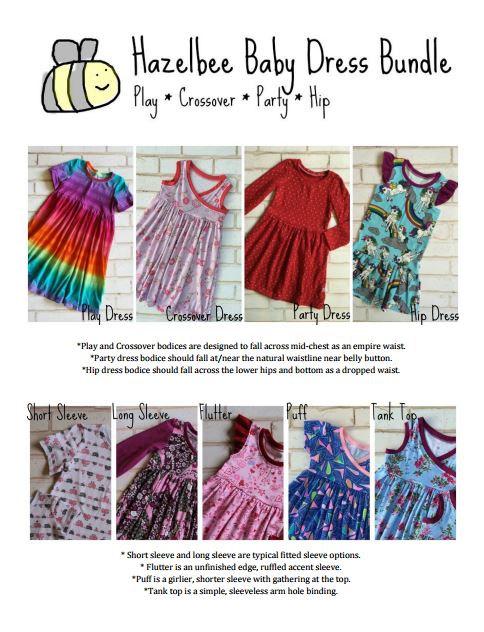 Hazelbee Baby Dress Pattern Bundle Flash Sale