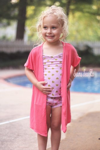 M4M Lola Girl's Swimsuit Cover up Sewing Pattern