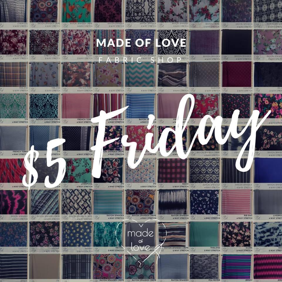 Made For Love Fabric $5 Destash Sale