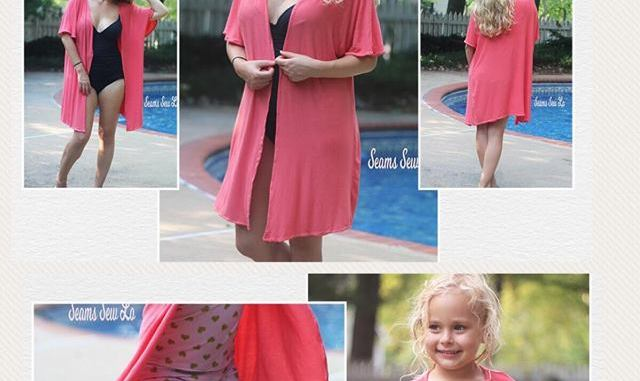 b057b9139a239 Lola Mommy and Me Girls and Women s Swimsuit Cover Up Sewing Pattern ...