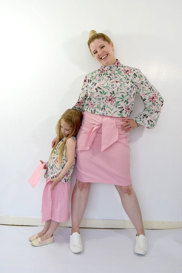 Mommy and Me Paige Pencil Skirt Sewing Pattern by Rebecca Page