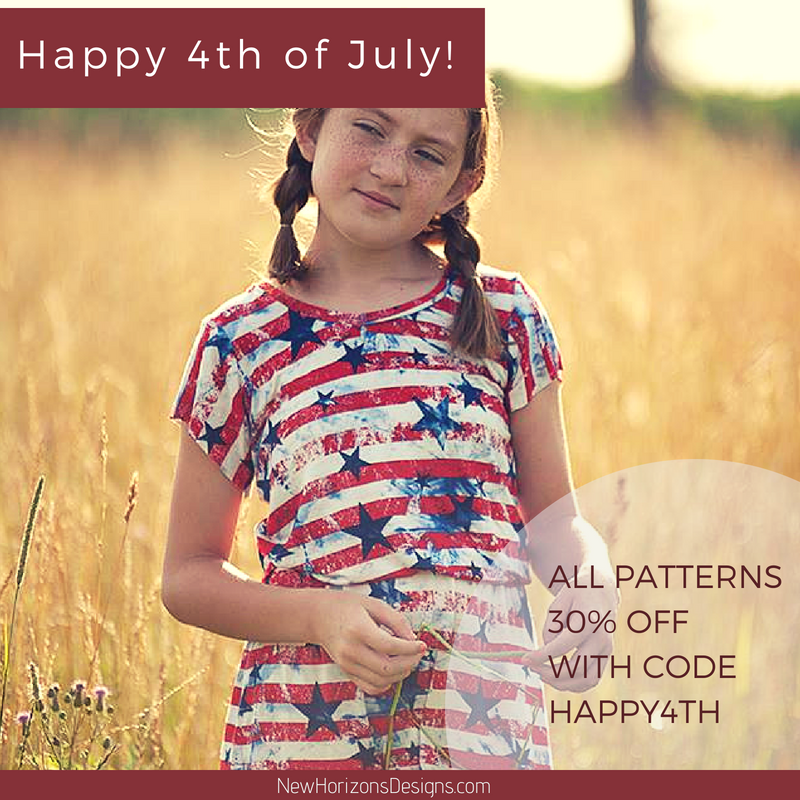 New Horizons 4th of July Sewing Pattern Sale