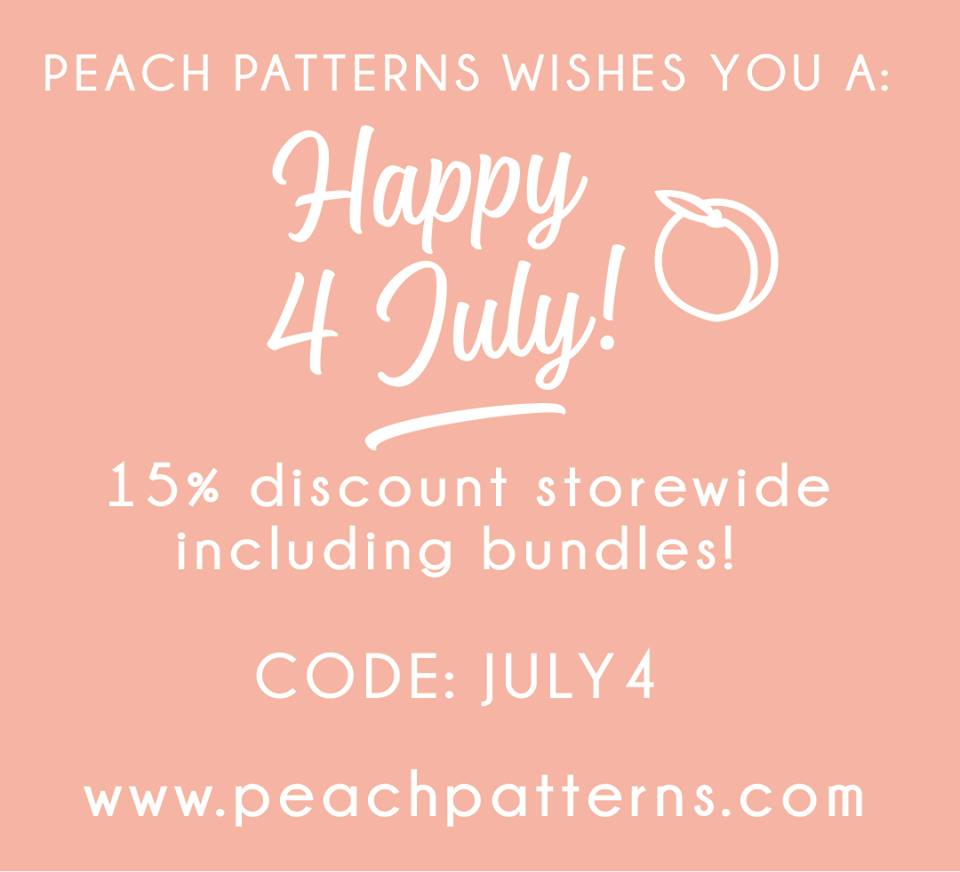 Peach Patterns 4th of July Sewing Pattern Sale