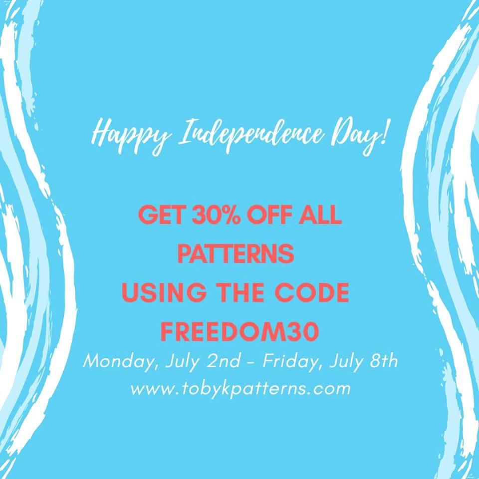 Toby K Patterns 4th of July Sale