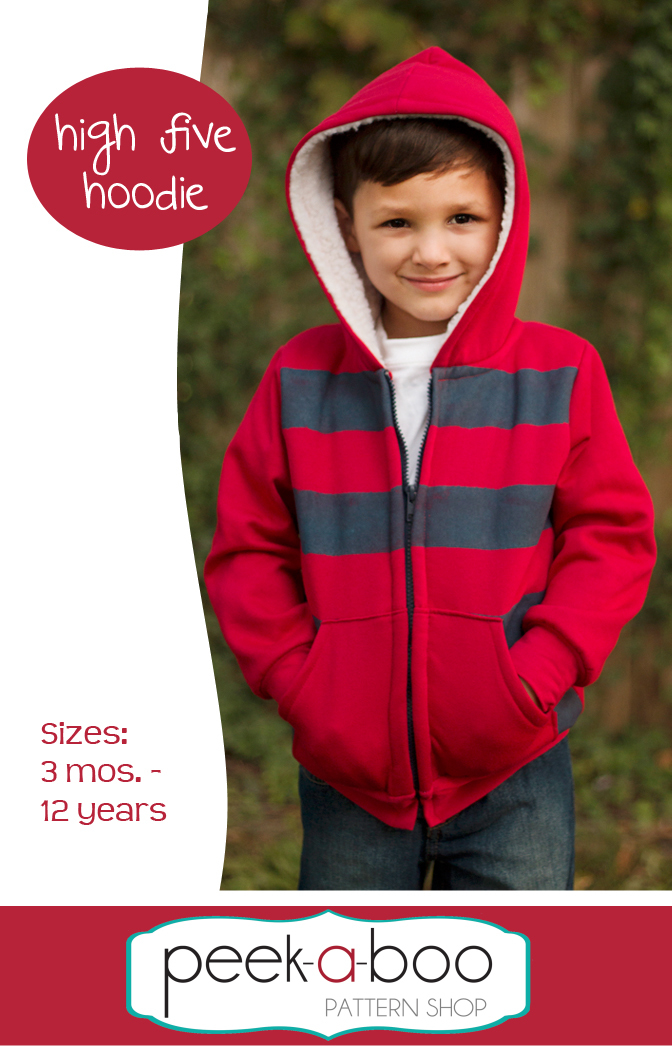 High Five Hoodie Sale, Kids Sewing Pattern, Perfect for Girls or Boys