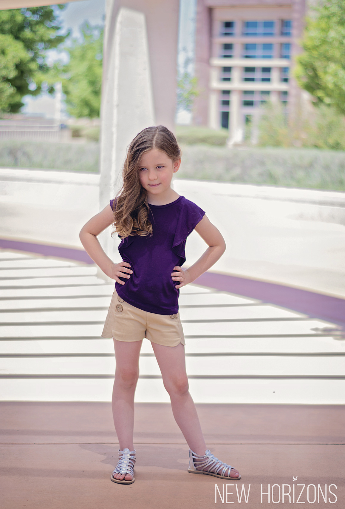 Monaco Shorts Girls Sewing Pattern Release and Sale by New Horizon Designs