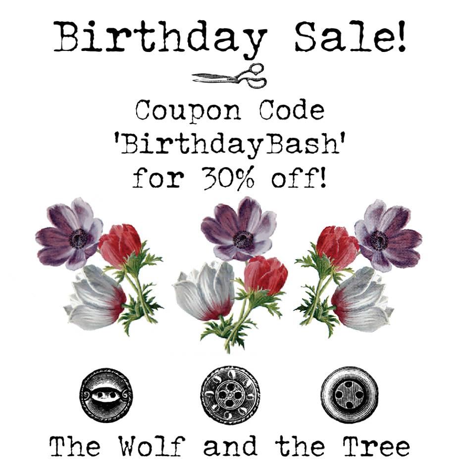 The Wolf and Tree Sewing Pattern Birthday Bash Sale