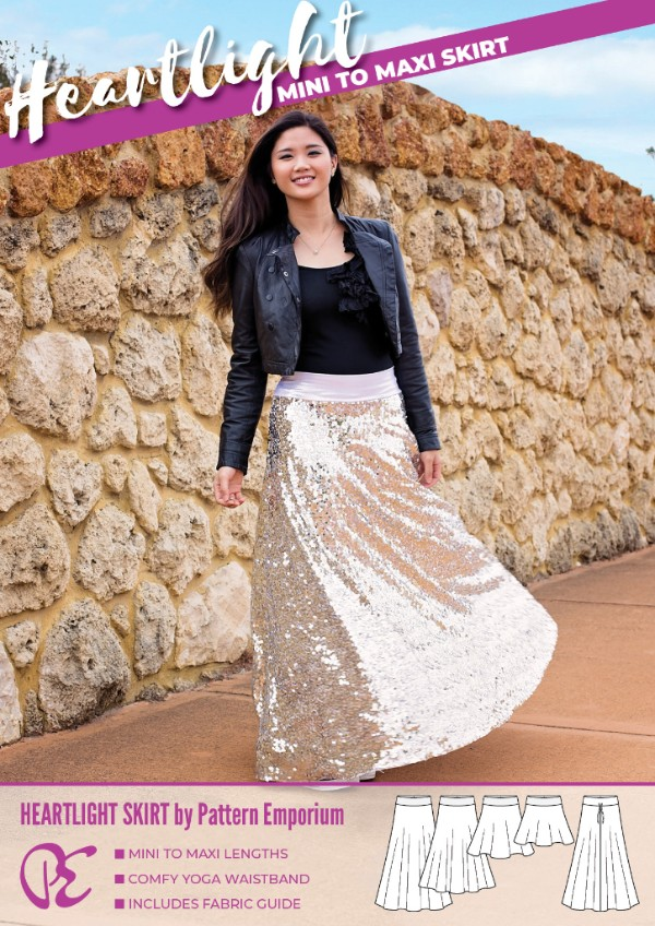 Heartlight Maxi Skirt Sewing Pattern Sale by Pattern Emporium