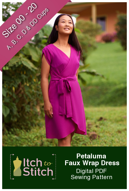 Petaluma Faux Wrap Dress Sewing Pattern Release by Itch to Stitch