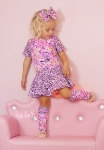Princess Rapunzel Knit Fabric Ballet Leotard Sewing Pattern