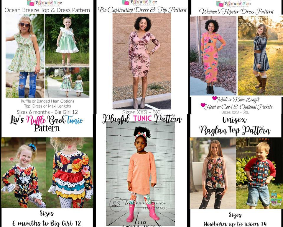 Wacky Wednesday $1 Sewing Patterns at Ellie and Mac