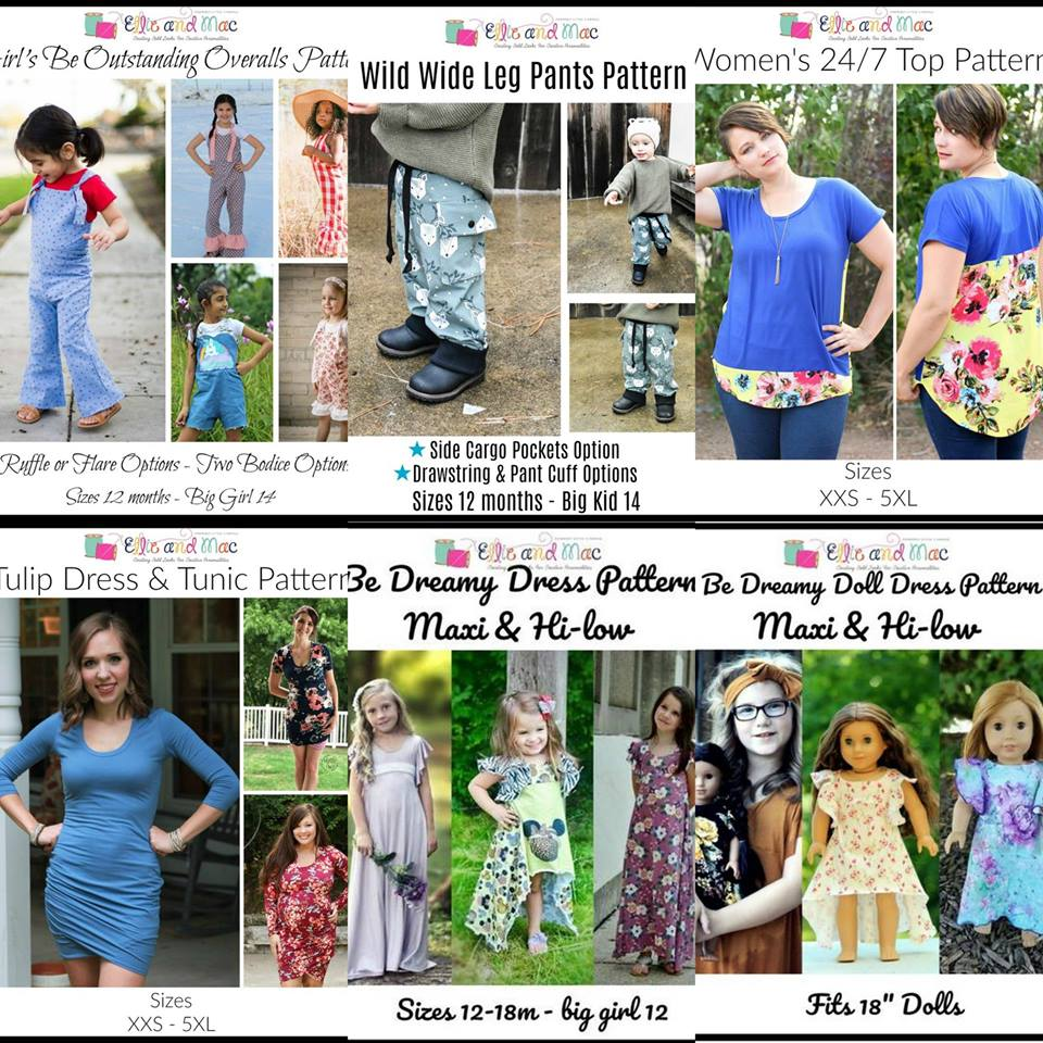 Wacky Wednesday $1 Sewing Patterns for Women, Girls and Boys
