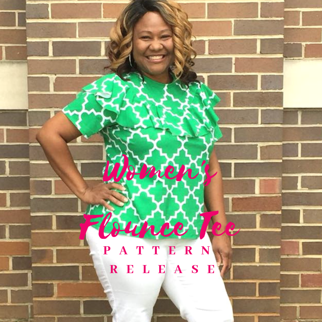 Women's Flounce Tee Sewing Pattern Release and Sale