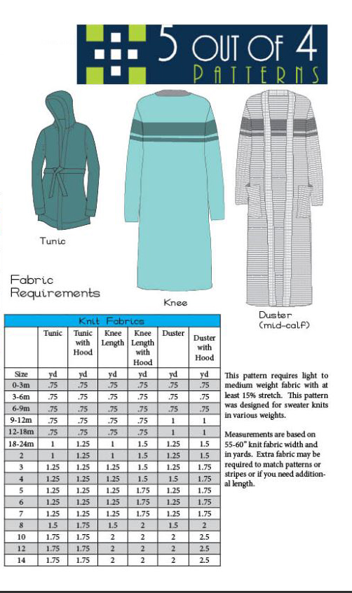 Girls Eleanor Cardigan Sewing Pattern Release and Sale by 5 out of 4 Patterns