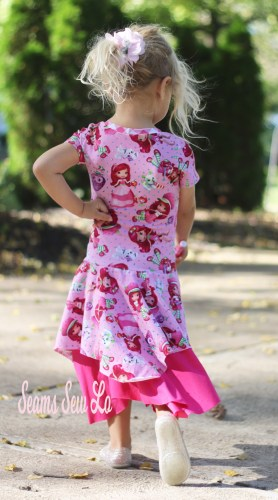 Lengthened Back Bodice of Daisy Dress Sewing Pattern by Petite Stitchery