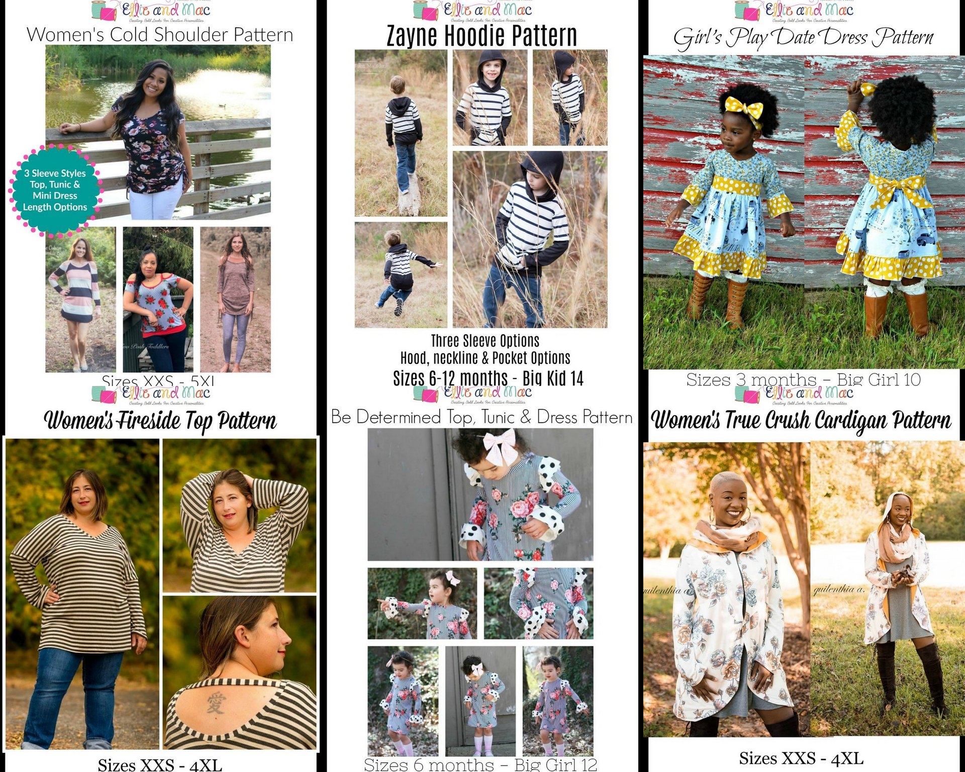 Wacky Wednesday $1 Sewing Patterns at Ellie and Mac October 3