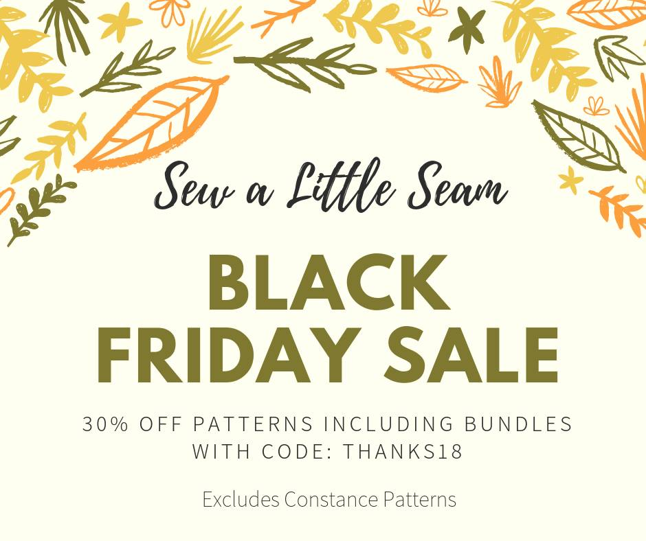 Sew a Little Seam Sewing Patterns Black Friday Sale