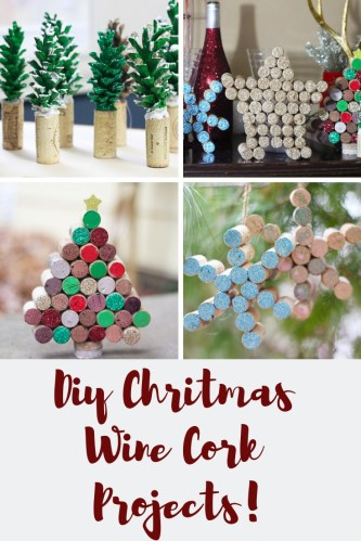 DIY Wine Cork Christmas Projects