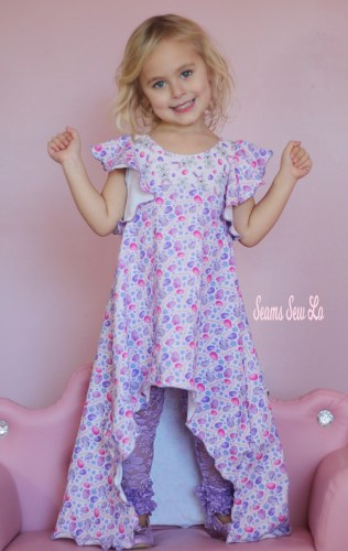 Ellie and Mac Be Dreamy Little Girls Easter Dress Sewing Pattern