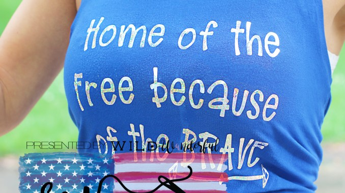 Sew Americana Blog Tour 2019 Home of the Free Because of the Brave SVG File Shirt