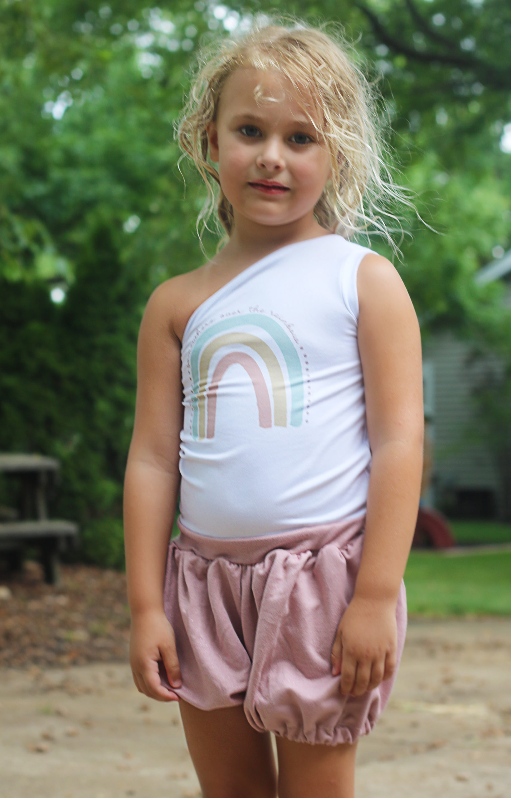 Ellie and Mac Sunshine Romper sewing pattern for Little Girls