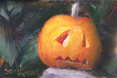 Jessica's Pumpkin Painting Seamus Berkeley