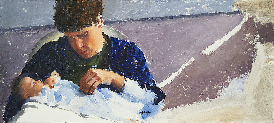 Derrek and Josephine Progress 04 Portrait Feature Painting Seamus Berkeley